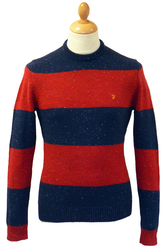 The Fall FARAH VINTAGE Retro Mod Stipe Knit Jumper