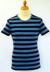 The Ross FARAH VINTAGE Retro Stripe Crew T-shirt I