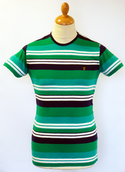 The Brook FARAH VINTAGE Retro Multi-Stripe Tee G