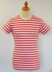 The Weston FARAH VINTAGE Retro Mod Stripe Tee DP