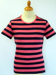 The Ross FARAH VINTAGE Retro Stripe Crew T-shirt P