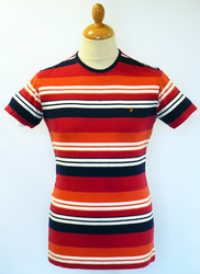 The Brook FARAH VINTAGE Retro Multi-Stripe Tee R