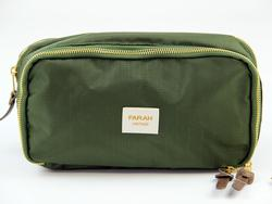 FARAH VINTAGE Retro Rip Stop Travel Wash Bag (GT)