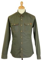 Wraith FLY53 Retro Indie Military Rip Stop Shirt