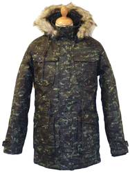 Dragonaught Camo FLY53 Retro Indie Snorkel Parka