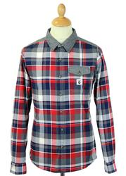 Roeburn FLY53 Retro Indie Mod Check & Denim Shirt