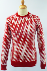 Dax FLY53 60s Mod Geometric Retro Knit Jumper (R)