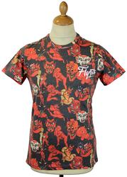 Old Nick FLY53 Retro Indie Cartoon Devil T-Shirt