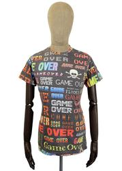 Coda FLY53 Retro Indie Game Over Grpahic T-shirt