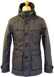 Kino Tweed FLY53 Mens Retro Indie Mod Parka Coat