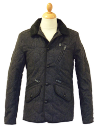 Ardent FLY53 Mens Retro Indie Quilted Mod Jacket