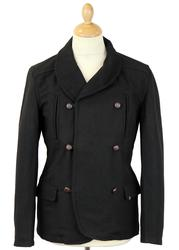 Cavendish FLY53 Retro 60s Mod Shawl Collar Peacoat