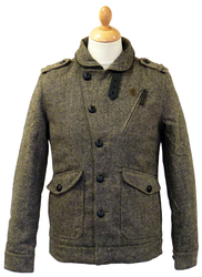 Volta Tweed FLY53 Retro Military Indie Mod Jacket