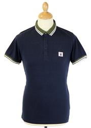 Knockout FLY53 Retro Indie Contrast Collar Polo M