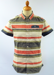 Tookie FLY53 Retro Mod Yarn Dye Indie Stripe Shirt