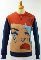 Zoinks FLY53 Retro Indie Pop Art 60s Print Sweat
