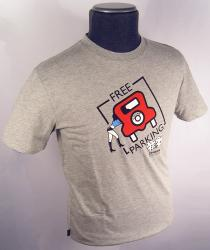 'Free Parking' - Mens Retro T-Shirt by CHUNK