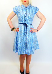 Cat & Bow FRIDAY ON MY MIND Retro 60s Shirt Dress