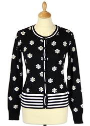 Fleur FRIDAY ON MY MIND Retro 60s Floral Cardigan