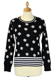Fleur FRIDAY ON MY MIND Retro 60s Floral Jumper