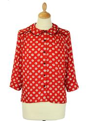 Fleur FRIDAY ON MY MIND Retro 50s Floral Shirt R