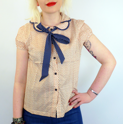 Jacinta FRIDAY ON MY MIND Retro 70s Bow Shirt