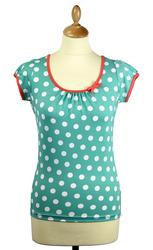 Spotty Top FRIDAY ON MY MIND Retro 60s Mod Top (M)
