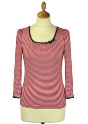 Sailor Top FRIDAY ON MY MIND Retro Stripe Top (R)