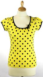 Spotty Top FRIDAY ON MY MIND Retro 60s Top (Y)