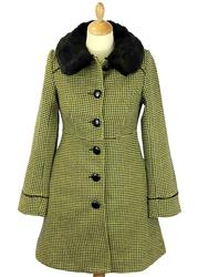 Tammy FRIDAY ON MY MIND Retro Jacquard Knit Coat Y