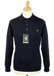 GABICCI VINTAGE Retro 60s Mod L/S Knitted Polo (N)