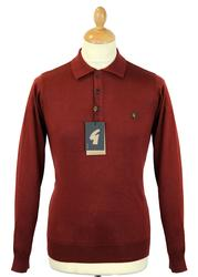 GABICCI VINTAGE Retro 60s Mod L/S Knitted Polo (P)