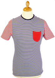Hurrel GABICCI VINTAGE 60s Mod Stripe Pocket Tee N