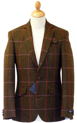GIBSON LONDON Retro Mod Check Tweed Blazer K