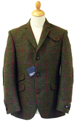 GIBSON LONDON Retro Mod Sage Check Blazer Jacket