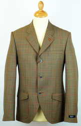 Grouse GIBSON LONDON Retro Mod Check Blazer (S)