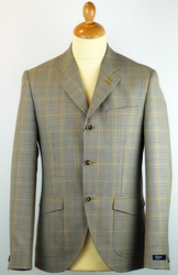 Grouse GIBSON LONDON Retro Mod Check Blazer Jacket