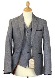 GIBSON LONDON Retro Mod Grey Donegal Suit