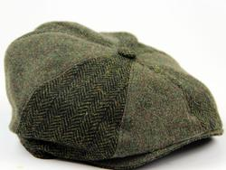 York Hat GIBSON LONDON 60s Mod Gatsby Cap OLIVE