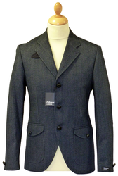 GIBSON LONDON Retro 60s Mod Herringbone Blazer C