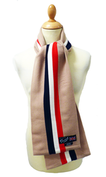 GLOVERALL Retro 60s Mod Regimental Stripe Scarf C