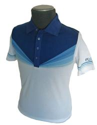 'Gods Money' - Fifties/Sixties Style Polo (Blue)