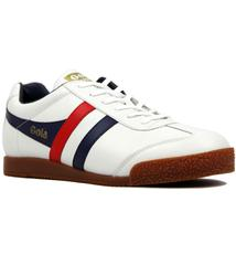 GOLA Harrier Retro Indie Leather Trainers (WHITE)