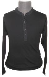 'GDT' - Sixties Mod Grandad Collar Shirt (Black)