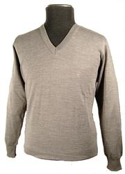 'Andino' - Retro V-Neck Jumper by AERTEX (Grey)