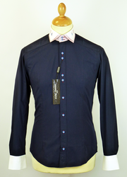GUIDE LONDON 60s Mod Double Collar Classic Shirt N