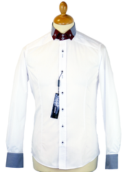 2-Tone Collar GUIDE LONDON Retro 60s Mod Shirt W