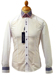 GUIDE LONDON Retro 60s Mod Double Collar Shirt WG