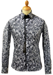Classic Paisley Guide London Retro 60s Mod Shirt B