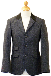 GUIDE LONDON 60s Mod 3 Button Herringbone Blazer